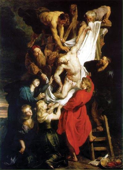 Чудесная картина Рубенса «Распятие». Рядом с телом Христа (внизу) – Магдалина и его брат, Радан (в             красном), а за Магдалиной – мать Радомира, Ведунья Мария. На самом верху – Иоанн, а справа и слева от             него – двое Рыцарей Храма. Остальные две фигуры неизвестны. Возможно это были иудеи, у которых             жила семья Радомира?..