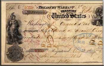 The check of $7.2 million for the lease of Russian America – Alaska, issued August 1, 1868